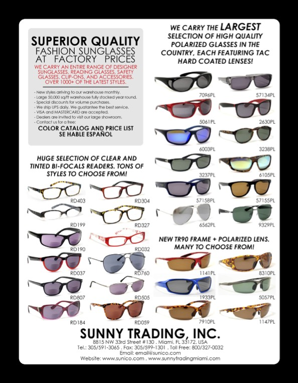 1149e7b1ae Sunny Trading. The ultimate selection of sunglasses for men and women. Polarized  sunglasses that will make you look good and be the perfect compliment to ...
